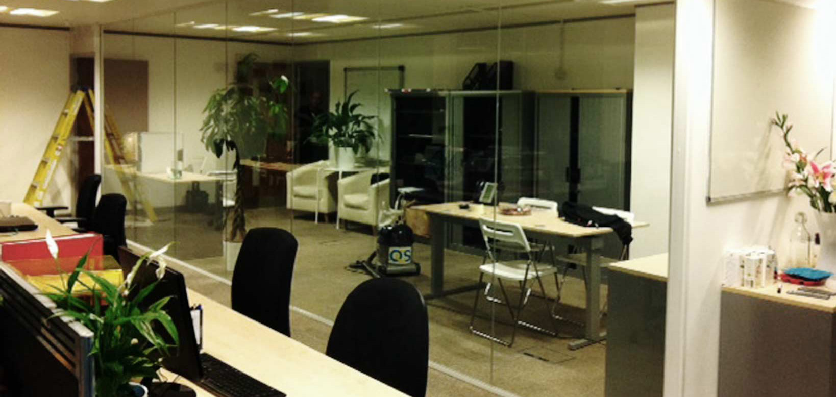 Safeguard Glass Office Partition