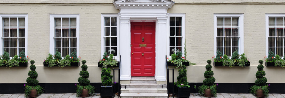 Safeguard Glass Red Front Door